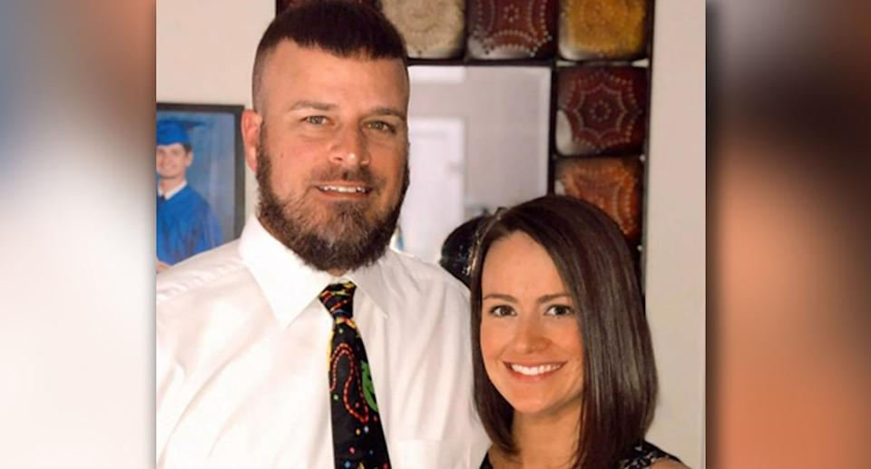 Brad Malagarie pictured with his wife Cori. Source: Family handout/ CNN