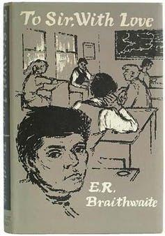 Book cover showing children at school sitting at desks.
