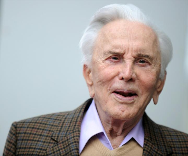 "Kirk Douglas, pictured in 2011, was immortalized as a star in his role as a rebellious Roman Empire slave turned gladiator in the 1960 epic ""Spartacus"""