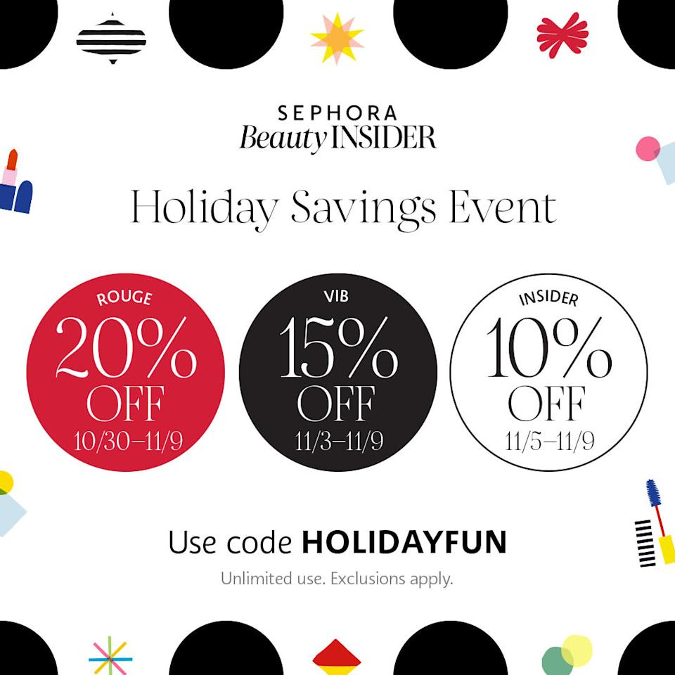 Sephora Canada Holiday Savings Event 2020`
