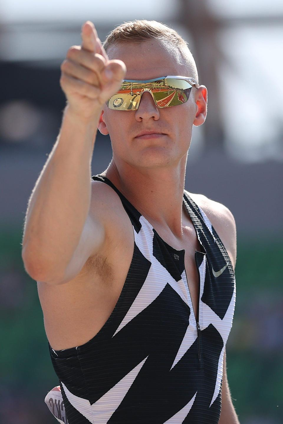 Sam Kendricks, who won bronze in the pole vault at the 2016 Olympics in Rio, is out of the Tokyo Games after testing positive for COVID-19.
