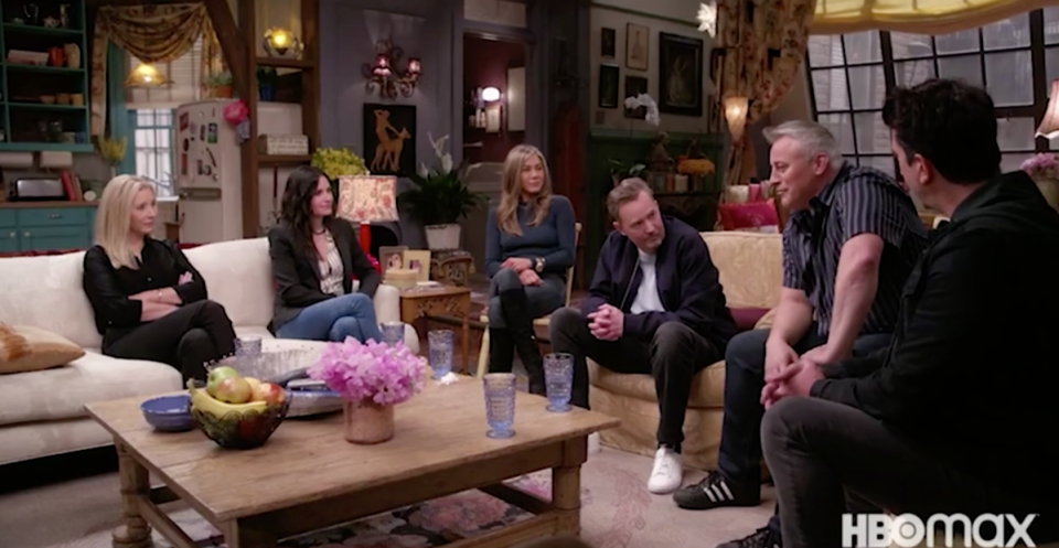 Entire cast comes together for the Friends reunion trailer