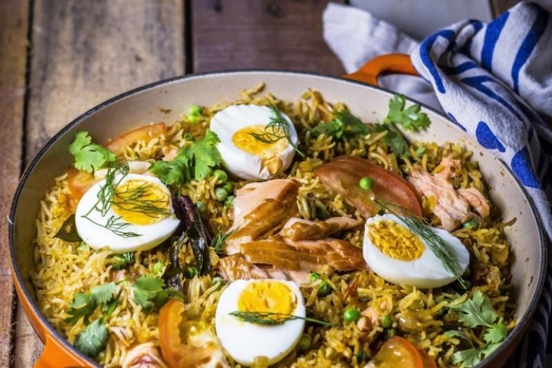 Hot Smoked Salmon Kedgeree (PHOTO: Monsoon Table)