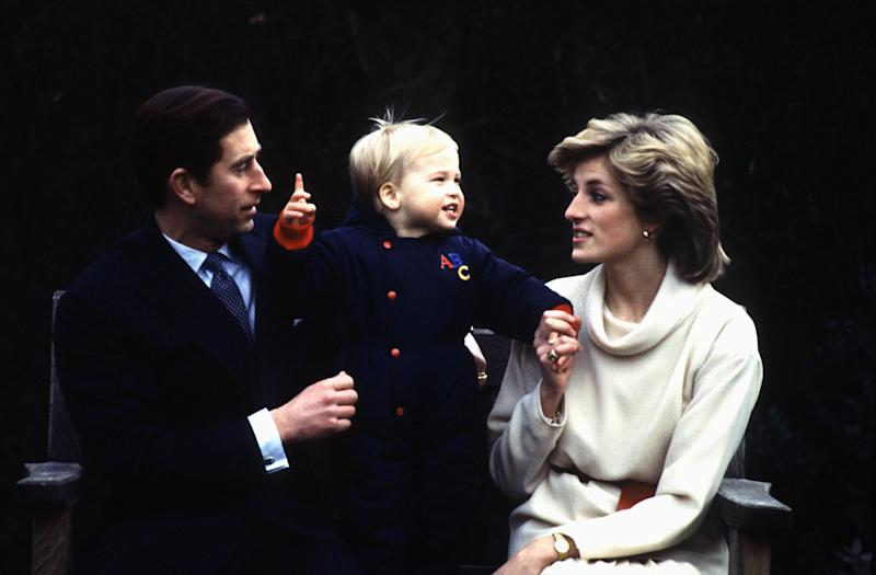 Prince Charles and Princess Diana with their son Prince William in 1983. (Photo: Hulton Deutsch via Getty Images)