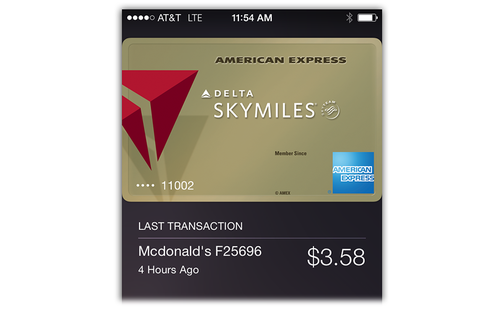 Recent Apple Pay transactions on an iPhone