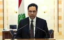 Prime Minister Hassan Diab on Lebanese TV announced his government's resignation amid popular outrage over the deadly Beirut port explosion