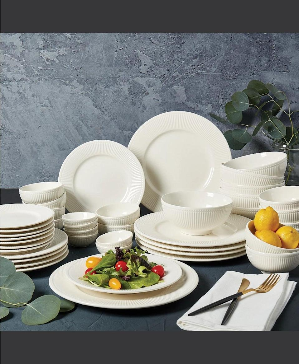<p><span>Tabletops Unlimited Inspiration by Denmark Fiore 42-Piece Dinnerware Set, Service for 6</span> ($55, originally $120 (with code FOURTH))</p>