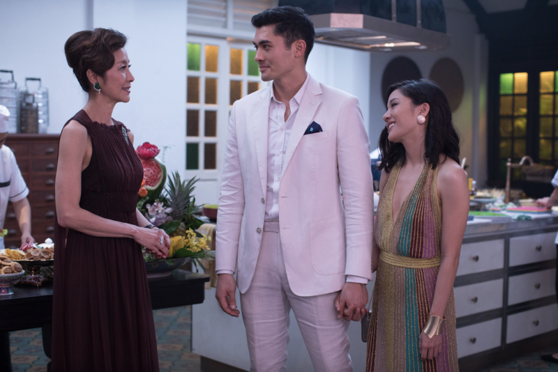 "Yeoh, Golding and Wu in ""Crazy Rich Asians."" (Warner Bros.)"