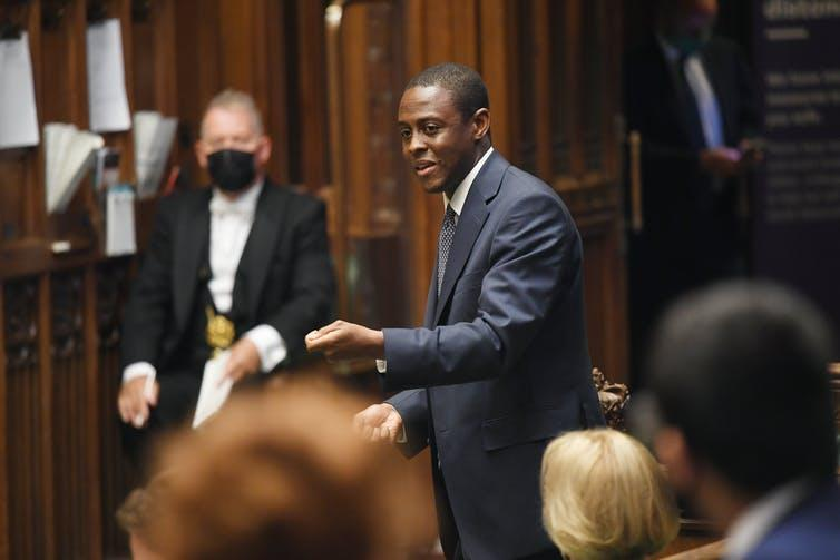 Bim Afolami MP addresses the House of Commons