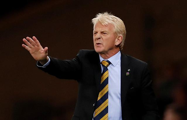 Soccer Football - 2018 World Cup Qualifications - Europe - Scotland vs Slovakia - Hampden Park, Glasgow, Britain - October 5, 2017 Scotland manager Gordon Strachan Action Images via Reuters/Lee Smith