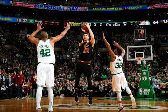 Kyle Korver promises to draw a lot of defensive attention whenever he's on the floor. (Getty)