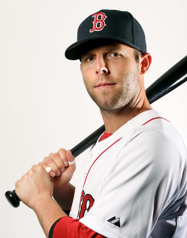 FORT MYERS, FL - FEBRUARY 17: Dustin Pedroia #15 of the Boston Red Sox poses for a portrait on February 17, 2013 at JetBlue Park at Fenway South in Fort Myers, Florida. (Photo by Elsa/Getty Images)