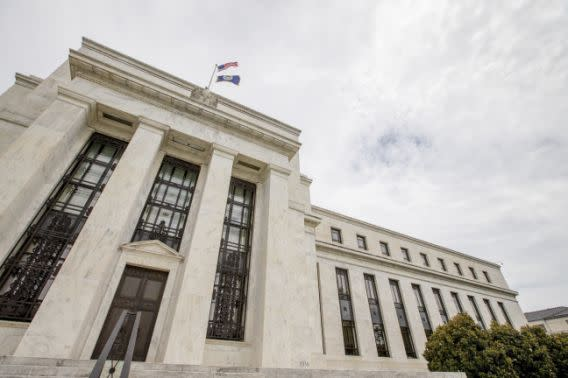 FILE – This June 19, 2015, file photo shows the Marriner S. Eccles Federal Reserve Board Building in Washington. (AP Photo/Andrew Harnik, File)