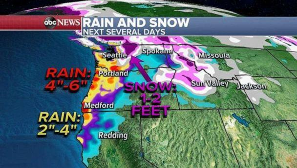 PHOTO: An avalanche warning has been issued for Washington state where 2 feet of snow will be mixed with rain making the snowpack very unstable and cause an avalanche threat. (ABC News)