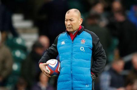 FILE PHOTO: Rugby Union - Six Nations Championship - England v Scotland - Twickenham Stadium, London, Britain - March 16, 2019 England head coach Eddie Jones during the warm up Action Images via Reuters/Andrew Boyers