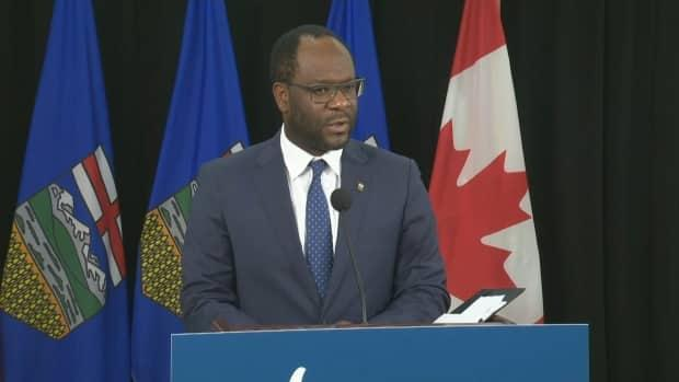 Justice Minister Kaycee Madu made controversial remarks on another user's Facebook page that suggested the federal government, media and NDP opposition wanted Alberta's health-care system to be overwhelmed by the pandemic. (CBC - image credit)