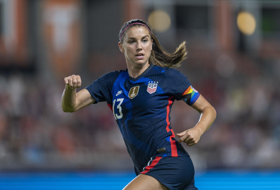 Alex Morgan is teaming up with Michelob ULTRA to help fans win a once in a lifetime experience. (Photo by Brad Smith/ISI Photos/Getty Images)
