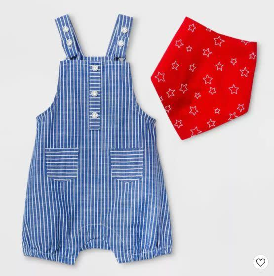"""Find this baby top and bottom set for $16 at <a href=""""https://yhoo.it/3g8Xpz9"""" rel=""""nofollow noopener"""" target=""""_blank"""" data-ylk=""""slk:Target"""" class=""""link rapid-noclick-resp"""">Target</a>."""