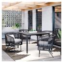 <p>The rust-resistant <span>Standish Patio Dining Set</span> ($950) will last you seasons to come.</p>