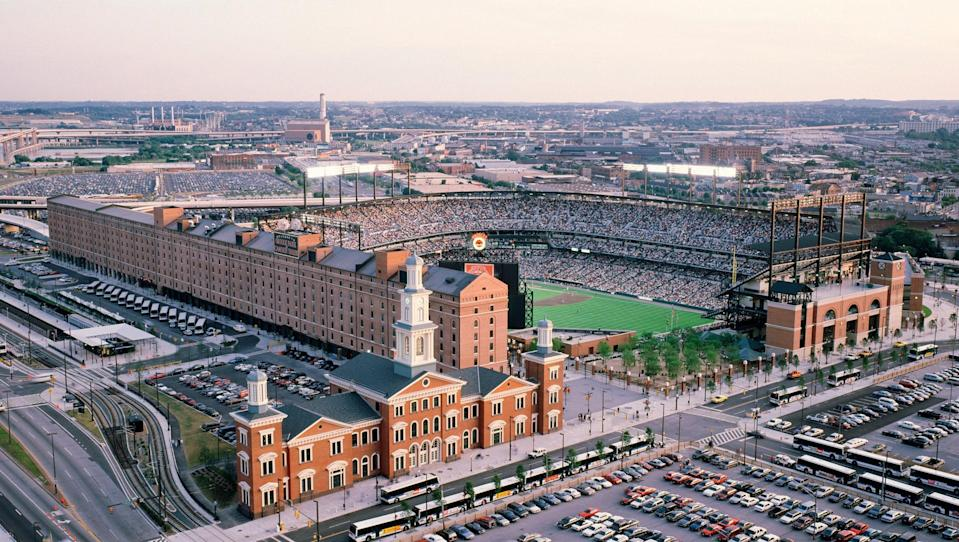 "<p><strong>Best thing to do in Maryland:</strong> Watch baseball at the country's most beautiful stadium</p> <p>When Oriole Park at Camden Yards opened in 1992, it set a new bar for baseball stadiums around the country, with beautiful architecture, modern amenities, and a better experience for fans—and by that we largely mean roomy seats, at least by MLB standards. More than 25 years later, it remains one of the best places to see a ball game in the country (according to <a href=""https://ballparkdigest.com/2018/05/11/best-of-the-ballparks-mlb-rankings/"" rel=""nofollow noopener"" target=""_blank"" data-ylk=""slk:Ballpark Digest"" class=""link rapid-noclick-resp"">Ballpark Digest</a>) even when the O's aren't at the top of their game. Grab a BBQ pork sandwich from Boog's Barbecue and a National Bohemian (call it Natty Boh to fit in with the locals), and don't forget to shout a hearty ""Oh!"" during ""The Star-Spangled Banner.""</p>"