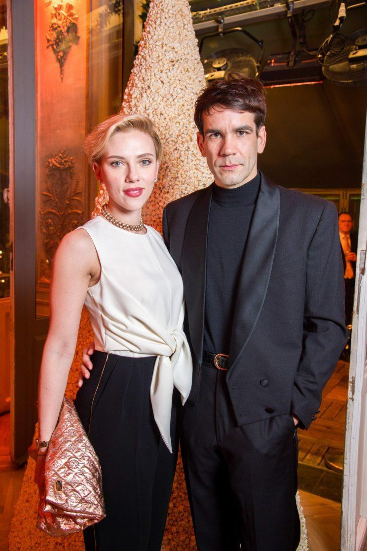 Scarlett Johnansson and Romain Dauriac at the grand opening of their popcorn shop on Dec. 16. They separated last summer. (Photo: Pascal Le Segretain/Getty Images for Yummy Pop)