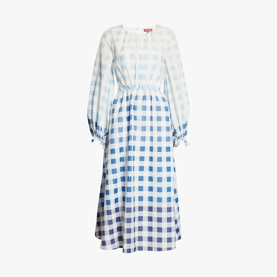 "$375, NORDSTROM. <a href=""https://www.nordstrom.com/s/staud-blanche-ombre-gingham-long-sleeve-dress/5804215"" rel=""nofollow noopener"" target=""_blank"" data-ylk=""slk:Get it now!"" class=""link rapid-noclick-resp"">Get it now!</a>"
