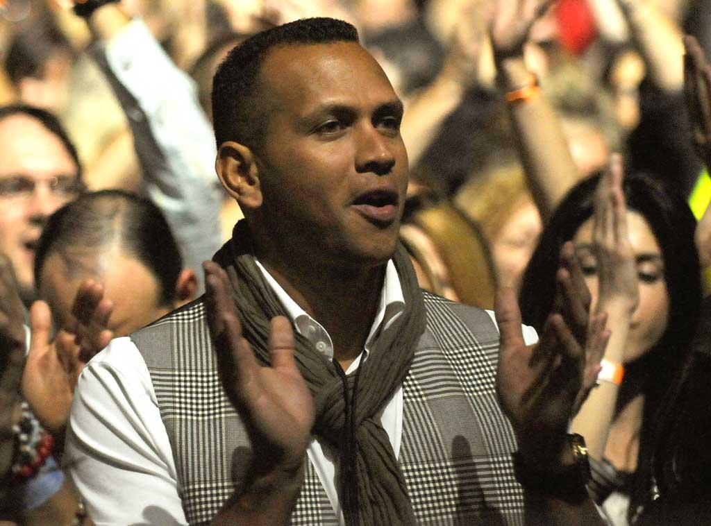 """Alex Rodriguez was spotted in the front row at the Miami stop of Madonna's """"Sticky and Sweet"""" tour Wednesday night. The Yankees slugger reportedly spent Thanksgiving day with his estranged wife and daughters, and afterwards stayed with the Material Girl (who is recently divorced herself). Kevin Mazur/<a href=""""http://www.wireimage.com"""" target=""""new"""">WireImage.com</a> - November 26, 2008"""