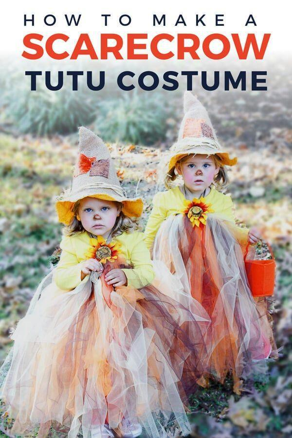 """<p>Who knew scarecrows could be so glamorous? This easy-to-make dress can be worn with or without a top underneath, as shown. </p><p><strong>Get the tutorial at <a href=""""https://designertrapped.com/diy-scarecrow-tutu-halloween-costume/"""" rel=""""nofollow noopener"""" target=""""_blank"""" data-ylk=""""slk:Kaleidoscope Living"""" class=""""link rapid-noclick-resp"""">Kaleidoscope Living</a>.</strong> </p><p><strong><a class=""""link rapid-noclick-resp"""" href=""""https://www.amazon.com/Tulle-Ribbon-Spool-Yards-Brown/dp/B0167HH99Y/ref=sr_1_1_sspa?tag=syn-yahoo-20&ascsubtag=%5Bartid%7C10050.g.28190286%5Bsrc%7Cyahoo-us"""" rel=""""nofollow noopener"""" target=""""_blank"""" data-ylk=""""slk:SHOP BROWN TULLE"""">SHOP BROWN TULLE</a></strong> </p>"""
