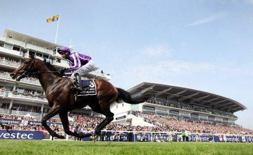 Camelot, ridden by jockey Joseph O'Brien, is pictured in action on June 2
