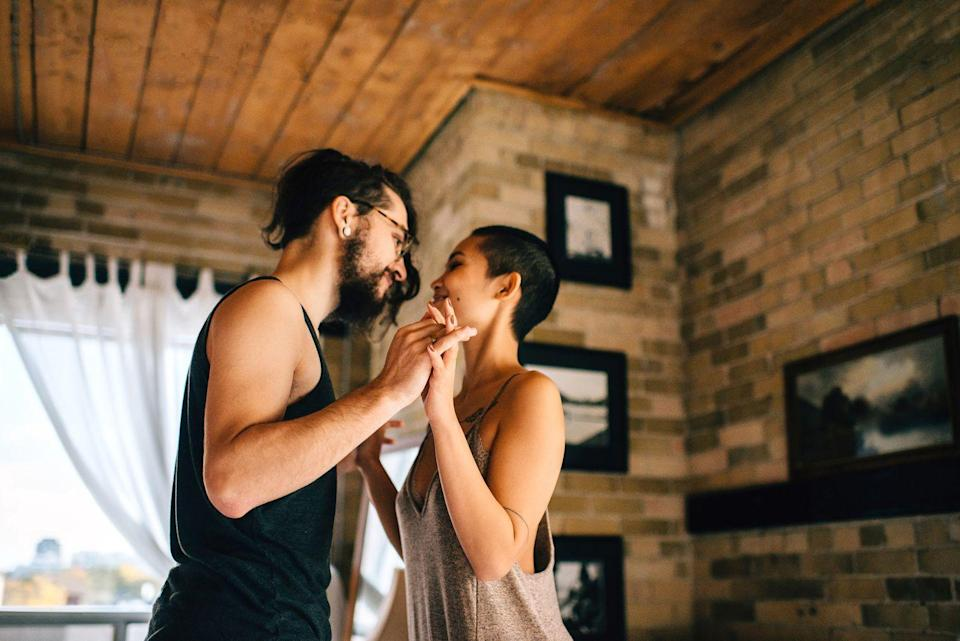 <p>Find a tutorial on YouTube and clear some space in the living room. You don't have to be a pro—the important thing is showing off your confidence and willingness to try new things. Also, you get to hold hands.</p>
