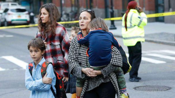 PHOTO: Parents pick up their children from P.S./I.S.-89 school after a shooting incident in New York City, Oct. 31, 2017. (Shannon Stapleton/Reuters)
