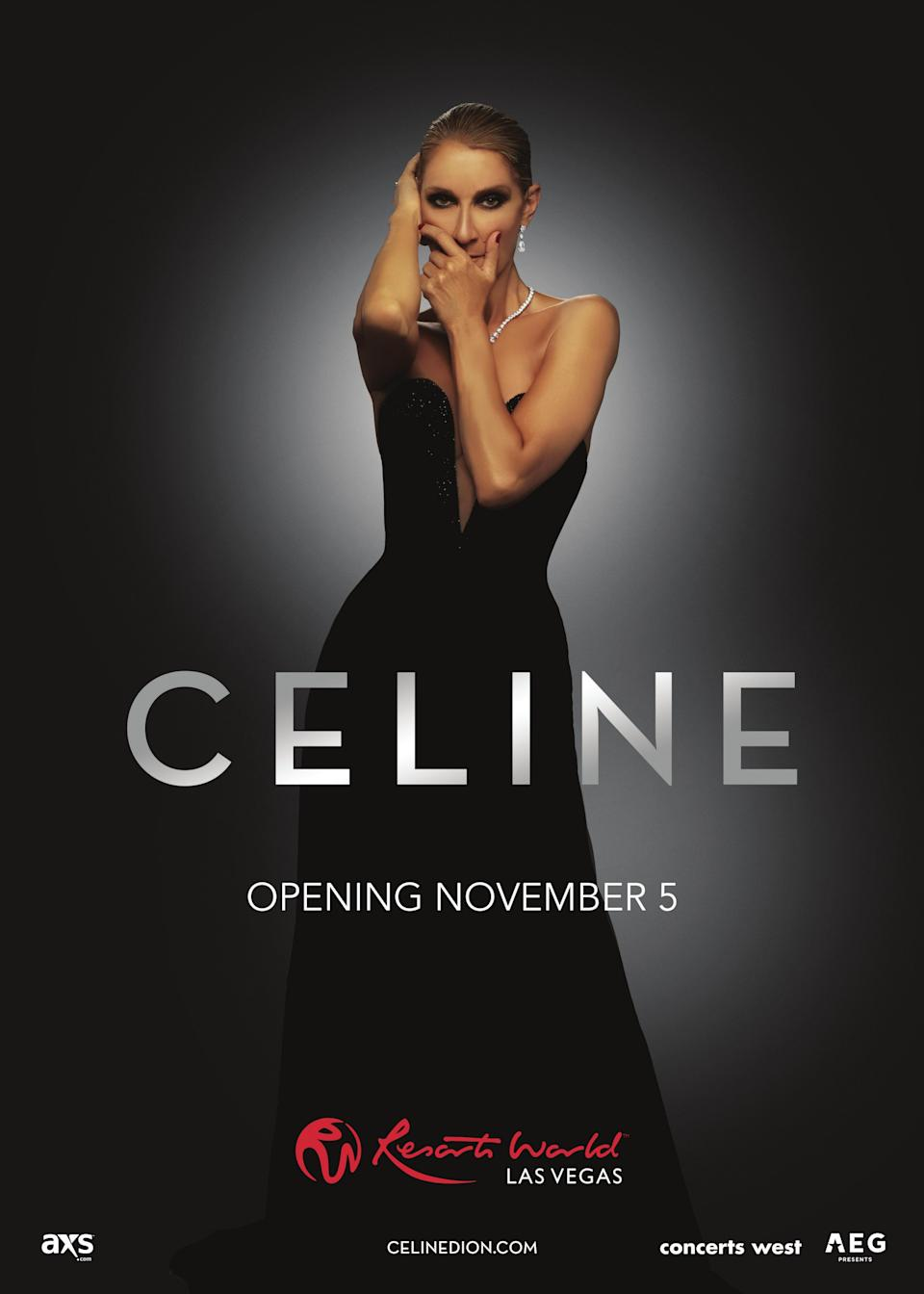 A poster for Celine Dion's upcoming Las Vegas residency.