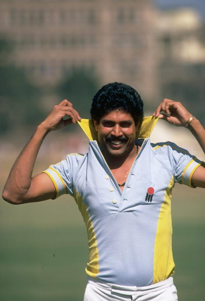 Nov 1984:  Portrait of Kapil Dev of India. \ Mandatory Credit: Adrian  Murrell/Allsport