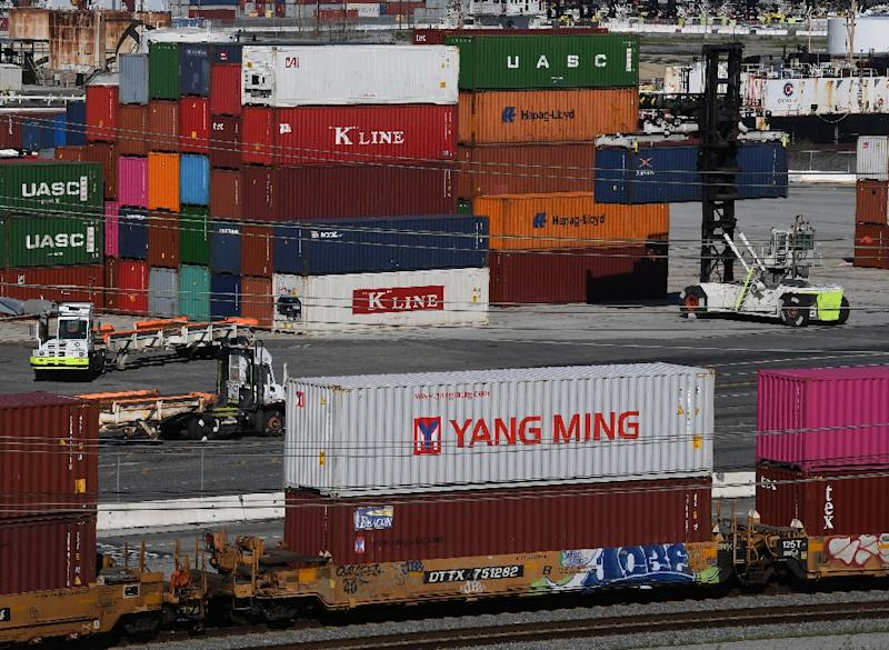 Fed contacts 'in many districts noted trade-related uncertainty' (AFP Photo/Mark RALSTON)