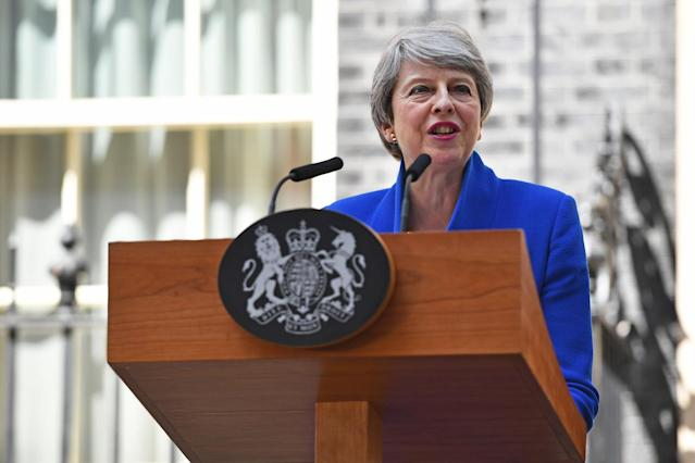 "After failing to get her Brexit deal through Parliament, and amid constant sniping at her from within her own party, Theresa May fell on her sword and resigned as prime minister, saying her decision was in ""the best interests of the country"" (Picture: PA)"