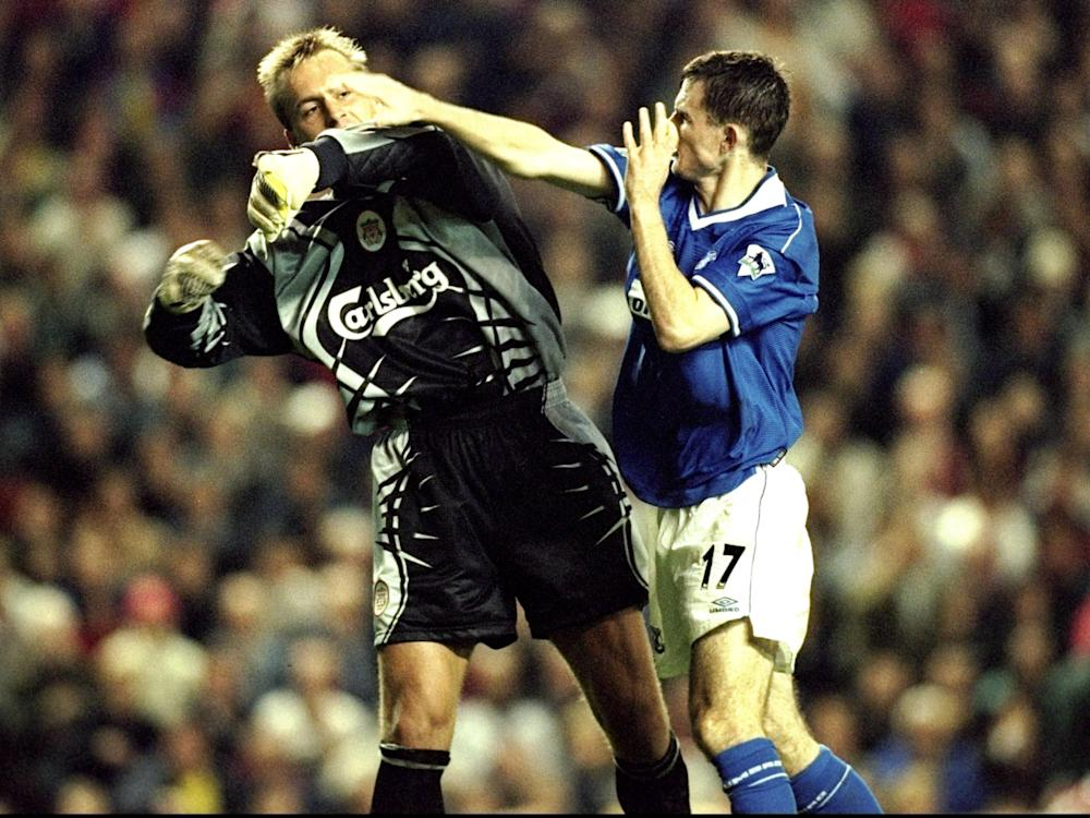 Francis Jeffers clashed with another Liverpool player, goalkeeper Sander Westerveld: Getty