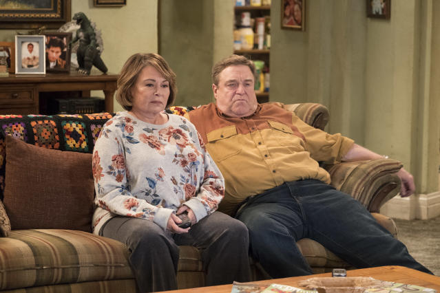 Roseanne Barr and John Goodman in <em>Roseanne.</em> (Photo: Adam Rose/ABC)