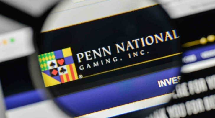 Penn (PENN) National Gaming logo on the website homepage.
