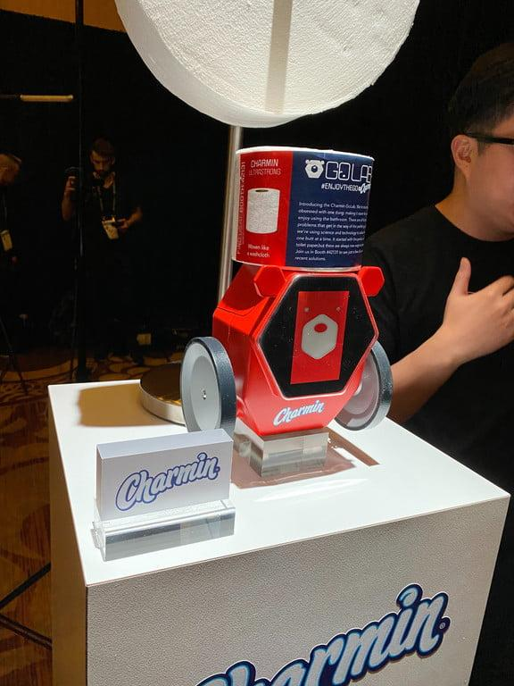 Charmin unveiled its RollBot at the CES. Source: Digital Trends