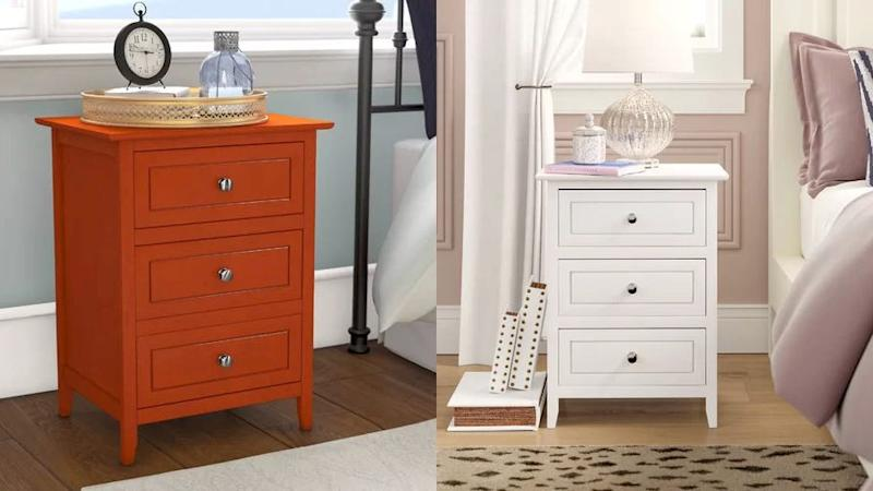These classic bedside tables come in a variety of colors to suit any style.