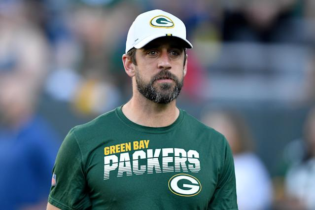 Aaron Rodgers' debut in Matt LaFleur's offense will have to wait. (Getty)