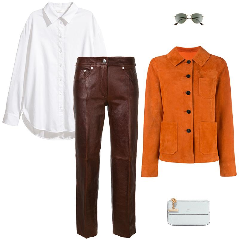 "<a rel=""nofollow"" href=""https://rstyle.me/n/cw743rchdw"">Cotton Shirt, H&M, $20<p>For texture play, team your white shirt with a boxy suede jacket over leather trousers in a tonal palette.</p> </a><a rel=""nofollow"" href=""https://click.linksynergy.com/deeplink?id=30KlfRmrMDo&mid=37508&murl=http%3A%2F%2Fwww.farfetch.com%2Fshopping%2Fwomen%2Fdrome-fitted-jacket--item-11928028.aspx%3Fq%3D11928028"">Fitted Jacket, Drome, $1255<p>For texture play, team your white shirt with a boxy suede jacket over leather trousers in a tonal palette.</p> </a><a rel=""nofollow"" href=""https://click.linksynergy.com/deeplink?id=30KlfRmrMDo&mid=37508&murl=https%3A%2F%2Fwww.farfetch.com%2Fshopping%2Fwomen%2Fhelmut-lang-faux-leather-trousers-item-12551180.aspx%3Fclickref%3D1101l4CtktnS%26utm_source%3Dmodesens%26utm_medium%3Daffiliate%26utm_campaign%3DPHUS%26utm_term%3DUSNetwork%26pid%3Dperformancehorizon_int%26c%3Dmodesens%26clickid%3D1101l4CtktnS%26af_siteid%3D1100l16177%26af_sub_siteid%3D1011l270%26af_cost_model%3DCPA%26af_channel%3Daffiliate%26is_retargeting%3Dtrue"">Faux Leather Trousers, Helmut Lang, $1561<p>For texture play, team your white shirt with a boxy suede jacket over leather trousers in a tonal palette.</p> </a><a rel=""nofollow"" href=""https://click.linksynergy.com/deeplink?id=30KlfRmrMDo&mid=1237&murl=http%3A%2F%2Fshop.nordstrom.com%2Fs%2Fray-ban-51mm-hexagonal-flat-lens-sunglasses%2F4433859%3Forigin%3Dcategory-personalizedsort%26fashioncolor%3DMETAL%2520GOLD%252F%2520GREEN"">51mm Hexagonal Flat Lens Sunglasses, Ray-Ban, $153<p>For texture play, team your white shirt with a boxy suede jacket over leather trousers in a tonal palette.</p> </a><a rel=""nofollow"" href=""https://rstyle.me/~ahbn8"">Drew Textured-Leather Cardholder, Chloé, $275<p>For texture play, team your white shirt with a boxy suede jacket over leather trousers in a tonal palette.</p> </a>"