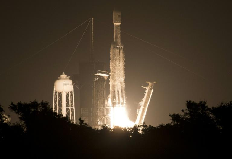 The launch of SpaceX's rocket Falcon Heavy on June 25, 2019