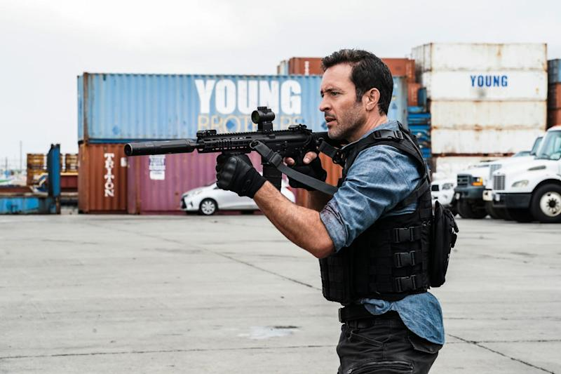 Steve McGarrett (Alex O'Loughlin), leader of the elite Five-0 police unit, has time for just one more gunfight on the series finale of CBS Friday stalwart, 'Hawaii Five-0.'