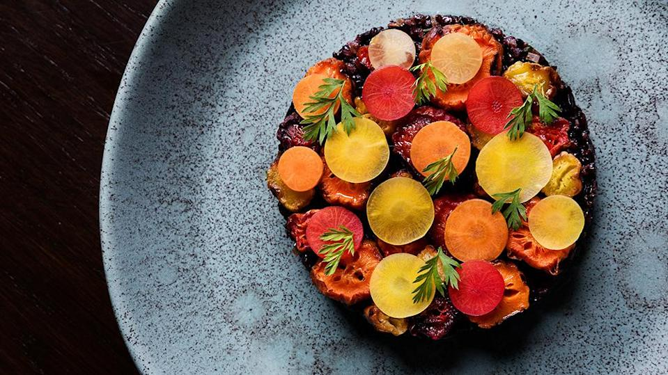 Carrots with black rice at Fellow - Credit: Courtesy Fellow/Dylan & Jeni