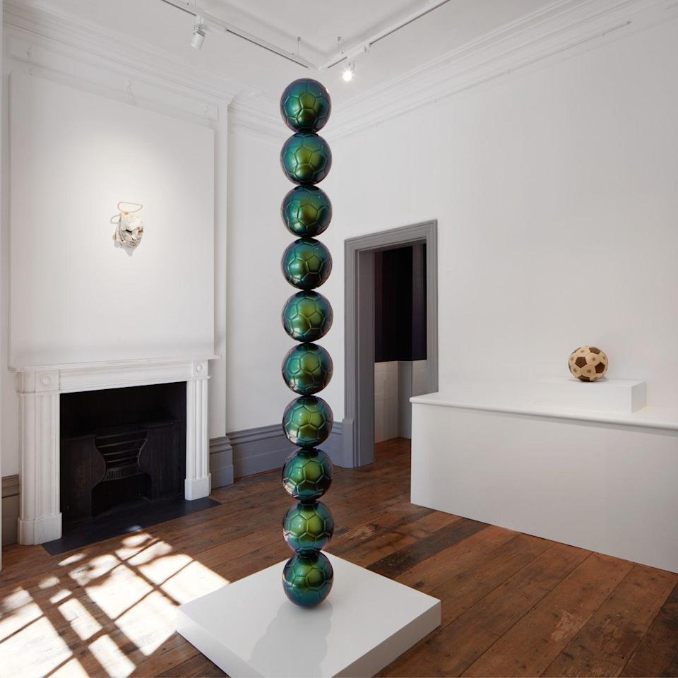 An installation view of BALLS at OOF Gallery (Tom Carter)
