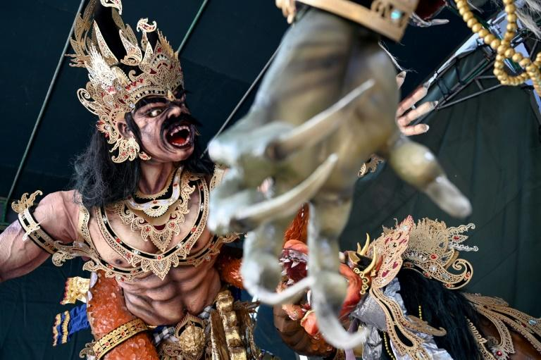 Bali's 'Day of Silence' is preceded by street parades (AFP Photo/SONNY TUMBELAKA)