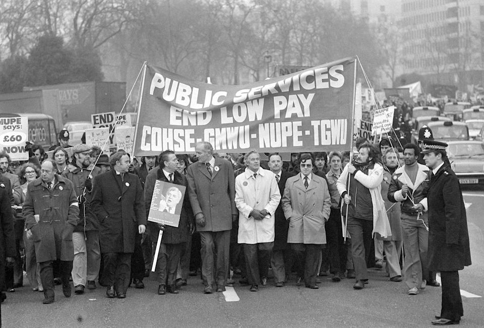 Strikes and industrial disputes were a feature of the 'winter of discontent' in 1978 and 1979 (PA)