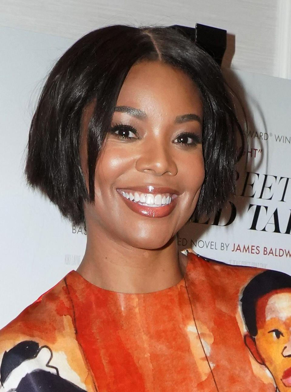 """<p>Actress <strong>Gabrielle Union</strong> shows off her short shaggy bob. The tapered back helps shape the face and makes this <a href=""""https://www.goodhousekeeping.com/beauty/hair/g2774/how-to-style-short-hair/"""" rel=""""nofollow noopener"""" target=""""_blank"""" data-ylk=""""slk:short hairstyle"""" class=""""link rapid-noclick-resp"""">short hairstyle </a>great for women with oval and heart-shaped faces. </p>"""