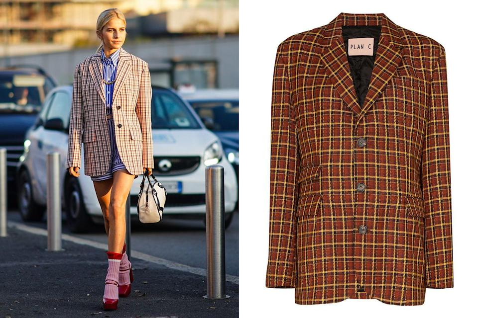 """<p>What's more classic and preppy than a checkered blazer? Take the look from senior week to fashion week by mixing your prints and pairing with a striped button down and shorts for a pattern-clashing look that's sure to score you extra credit.</p><p><em><a href=""""https://www.mytheresa.com/en-us/plan-c-checked-wool-blazer-1331670.html?gclid=Cj0KCQjws_r0BRCwARIsAMxfDRjLnblRq82AZDsgN-nz-XgvL4jMCMvfinqZ1lvrfh7O9UCI0Aq8u-YaAhsmEALw_wcB&utm_source=sea_pla&utm_medium=google&utm_campaign=google_sea&ef_id=Cj0KCQjws_r0BRCwARIsAMxfDRjLnblRq82AZDsgN-nz-XgvL4jMCMvfinqZ1lvrfh7O9UCI0Aq8u-YaAhsmEALw_wcB:G:s?pr="""" rel=""""nofollow noopener"""" target=""""_blank"""" data-ylk=""""slk:PLAN C oversized check blazer"""" class=""""link rapid-noclick-resp"""">PLAN C oversized check blazer</a>; $605</em></p>"""